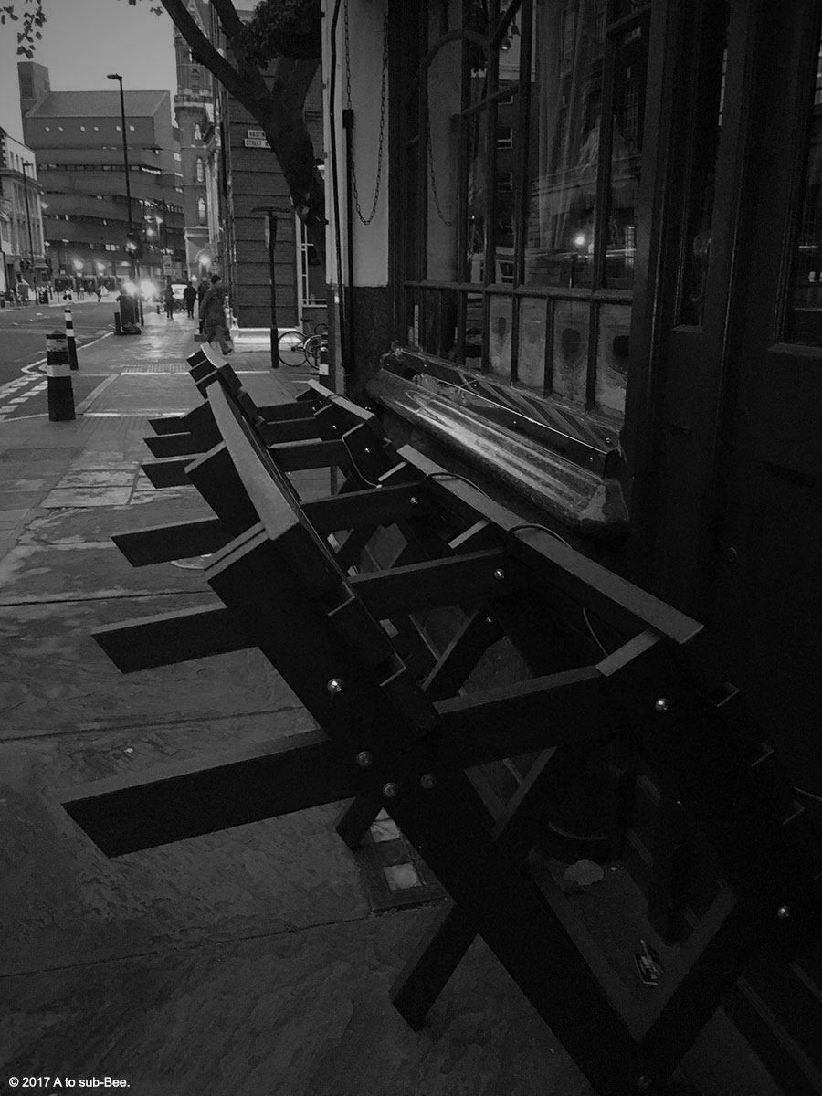 Tipsy benches